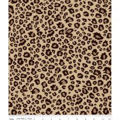 Riley Blake on Safari LEOPARD BROWN 100% Cotton - Purrfect.