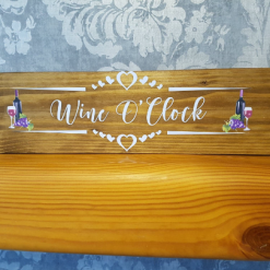 Wooden Plaque - Great Gift for a Wine Lover. Free Standing or Wall Mountable with fixings.
