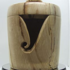 Spalted Chestnut Yarn Bowl with Lid
