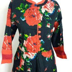 Vintage Asian Kurta Mandarin Size 12UK