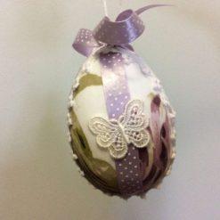Easter Egg in Butterfly Garden Duck Egg fabric