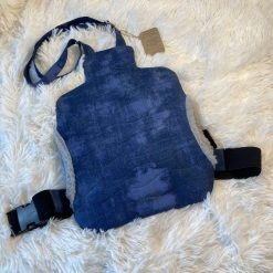 Navy Wearable Quilted Hot Water Bottle Cover (bottle not included)