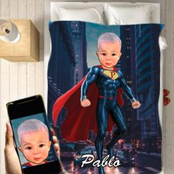 Personalised Superman Blanket 2 Baby Home Decor Kids Nursery Room Decor Baby Gifts