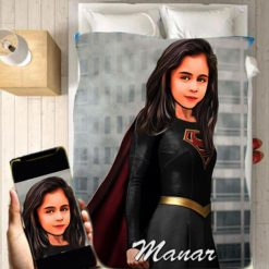 Personalised Supergirl Blanket Baby Home Decor Kids Nursery Room Decor Baby Gifts