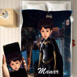 Personalised Batgirl Blanket Baby Home Decor Kids Nursery Room Decor Baby Gifts