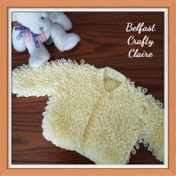 Beautiful Hand Knitted Baby Loopy Cardigan / Coat - 06-12 Months - WHITE