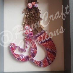 Hand Quilled Mermaid (Pink & Purple)
