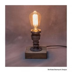Steampunk Lamp + Free Bulb - Rustic / Farmhouse / Industrial - Handmade Edison E27 Lighting