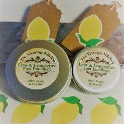 Organic Zingy & Fresh Lime & Lemongrass Foot Emollient Cream 30ml (CPSR)