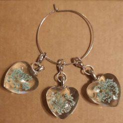 Handmade Glass Heart Stitch Marker