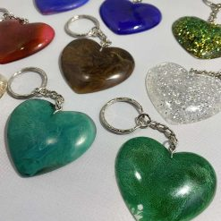 Resin Heart Keychains