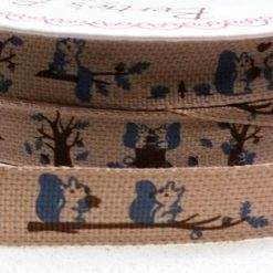 Bertie's Bows - Ribbon - Squirrel Print