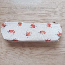 Rustic Animal Print Pencil Case. Available in a Puffin, Small and Large Bumble Bee, Ladybird, Duck and Goose, Dotty, Cat and Sausage Dog Prints.