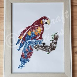 Hand Quilled Macaw