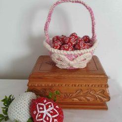 Easter basket, pink, Easter hunt egg basket, Easter, Easter hunt, basket, housewarming gift