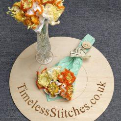 Stemmed Crochet Spring Daffodils