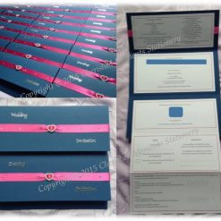 Wallet style wedding invitation. Perfect for fitting in all the information you need.
