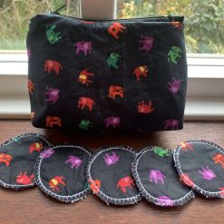 Make up bag with make up remover pads