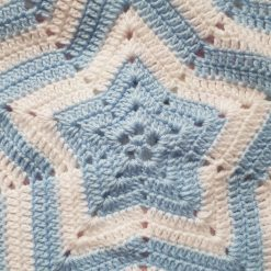 Star blanket- blue & white