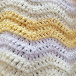 Ripple blanket- yellow &white