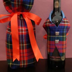 MacPherson Tartan Wine Bottle Waistcoats & BottleBag,  Tartan Waistcoats, Bottle Covering, Tartan Gift Bag, Whisky bottle cover