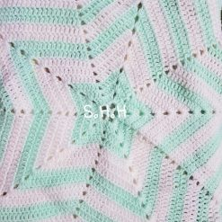 Star blanket- mint & white