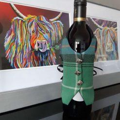 MacDonald of the Isles Tartan Wine Bottle Waistcoats,  Tartan Waistcoats, Bottle Covering, Whisky bottle cover