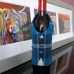 Bousie Tartan Wine Bottle Waistcoats,  Tartan Waistcoats, Bottle Covering, Whisky bottle cover