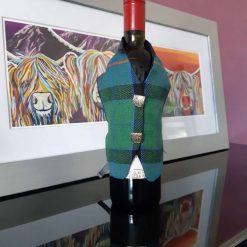 Flower of Scotland Tartan Wine Bottle Waistcoats,  Tartan Waistcoats, Bottle Covering, Whisky bottle cover