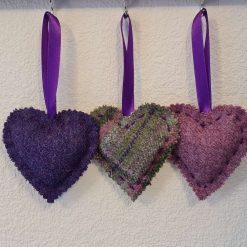 Tweed Love Hearts 💜🖤💙 Tweed Heart, Love Heart, Scottish Gift