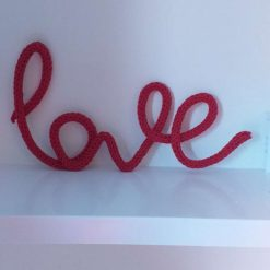 Knitted name,knitted words,bedroom decor,wall hanging,wire art