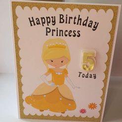 Handmade Princess 5th Birthday Card