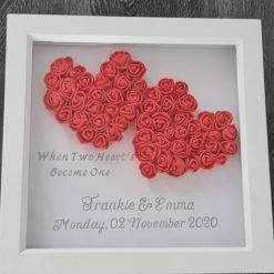 Personalised frame anniversary, wedding or valentines