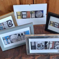 Framed Letter Photo Words