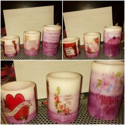 Motheres Day Flameless wax candle scented lavender