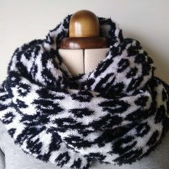 Infinity circular Animal print snood scarf