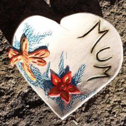 Mum Heart Dragonfly Dish
