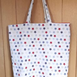 Lined cotton canvas tote bag