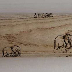 Pyrography rolling pins. Many designs to choose from animals/Dinosaur/sayings
