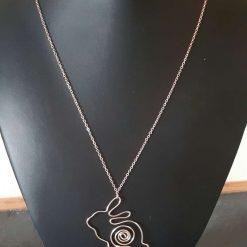 Rose Gold Rabbit Pendant Necklace