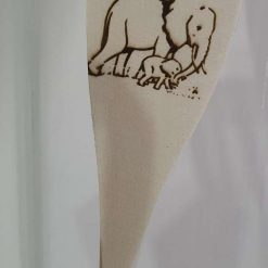 Pyrography Wooden spoon or spatula or mini rolling pins. Many designs to choose from animals/Dinosaur/sayings