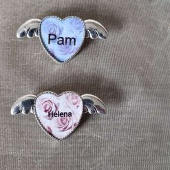 Angel wing brooches