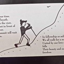 Walkers/hikers poem fridge magnet