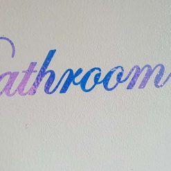 "Holographic Vinyl "" Bathroom "" Decal"