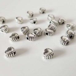 Tibetan Style Alloy Heart Beads
