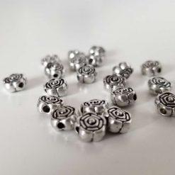 Tibetan Silver Flower Beads