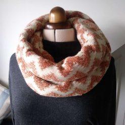 Infinity scarf Zig Zag pattern 1