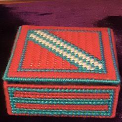 Square Plastic Canvas Trinket Box