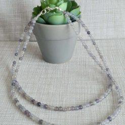 A lovely topaz jade necklace with matching bracelet