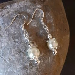 Cream Pearl Dangle Earrings